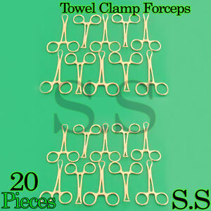 20 Backhaus Towel Clamp 3 5 Full Gold Surgical Instruments