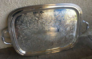 International Silver Plate Company 1492 Georgian Castle Butler S Tray Serving 22