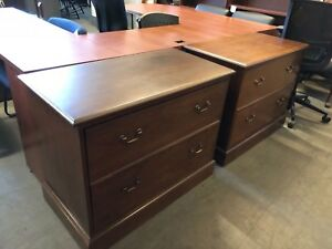 2 Drawer Lateral Size File Cabinet By Myrtle Office Furniture In Cherry Wood