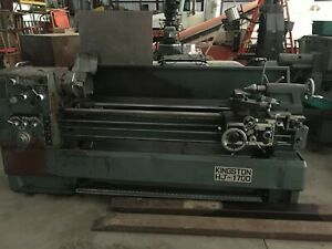 Kingston Hj 1700 Engine Lathe 17 Swing 67 Centers 10 Chuck Taper Attach