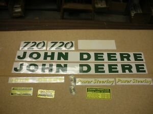 John Deere 720 Tractor Decal Set New Free Shipping