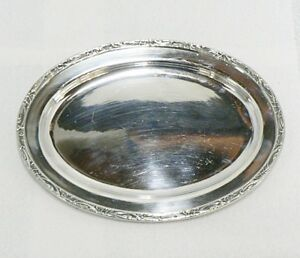Reed Barton Silver Soldered Oval Tray 1436