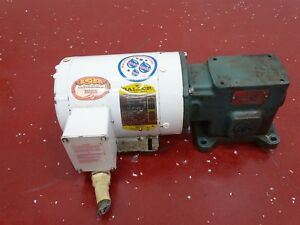 Baldor Cwdm3538 Electric Motor W Tigear 1r94753 Q Gc Reducer