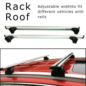 Aluminum Roof Rack Cross Bar Top Rail Luggage Carrier With Lock For Suv Truck