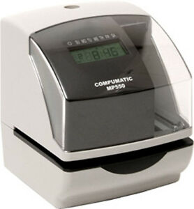 New Compumatic Mp550 Heavy Duty Time Recorder Document Validation Stamp