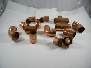 New Lot Of Copper Fittings 1 1 1 2 45 90 Elbow Reducer T Tee And Union