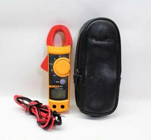 Fluke 322 Ac Clamp Multimeter Tester With Leads Case