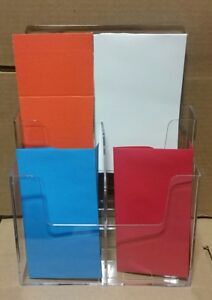 Clear Acrylic 2 tier Brochure Holder For 8 5 w Literature Box Of 8
