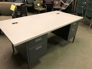 72 w X 36 d Executive Metal Desk By Hon Office Furniture Model Hp3276 g2 5