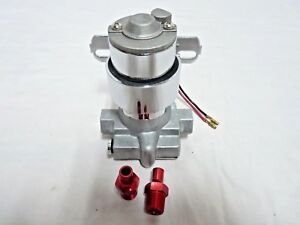100 Gph Electric Fuel Pump 14psi With Bracket Non Efi Chevy Sbc Bbc Chrome