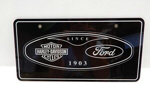 2004 2007 Ford Super Duty Oem Harley Davidson Front License Plate 4c3z 17a385 aa