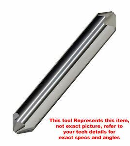 1 2 90 Included 6 Flute Solid Carbide Double End Countersink 3 Oal Usa