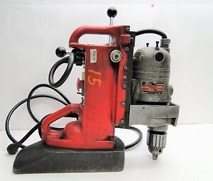 Milwaukee 4221 Electromagnetic Drill Press With 4262 1 Drill Motor