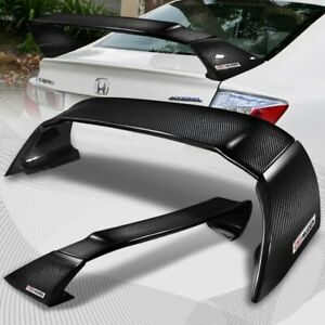 For 2012 2015 Honda Civic 4dr Mug Style Full Carbon Fiber Rear Trunk Spoiler