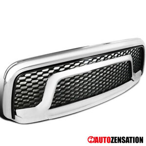 13 18 Dodge Ram 1500 Truck Chrome Rebel Honeycomb Style Front Bumper Hood Grille