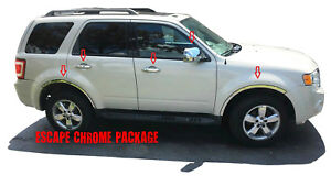 2008 Ford Escape Chrome Kit Fender Trim Mirror Covers Door Handle Covers