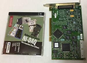 National Instruments Pci 6023e With Ni daq Data Acquisition Software