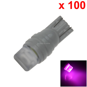 100x Pink Car T10 W5w Generation Bulb Interior Light Ceramic 2 5630 Smd Led Z204