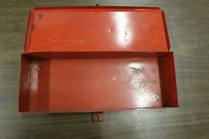Vintage Snap On Tools Steel Tool Box Case Kra104 14 X 5 X 2 1 2 Free Shipping