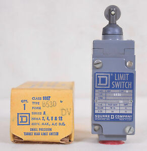 Square D Roller Plunger Limit Switch Class 9007 Type B53d