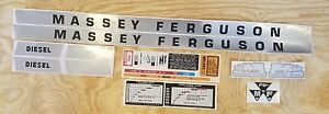 Massey Ferguson 135 Gas Diesel Tractor Complete Decal Set