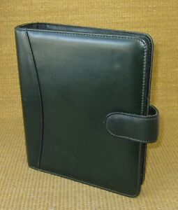 Classic 1 5 Rings Green Leather Franklin Covey quest Open Planner binder Usa