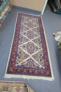Vintage Persian Fine Sarouk Hand Knotted Wool Rug Runner 2 7 X 6 4