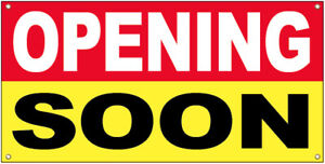 20x48 Inch Opening Soon Vinyl Banner Grand Opening Store Coming Soon Sign Ryb