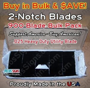 900 Bulk Packed Utility Blades Hvy Duty 025 Proudly Made In Usa Clearance