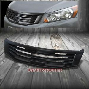 Black Mugen Style Replacement Front Grille For Honda 08 10 Accord Sedan Cp2 cp3
