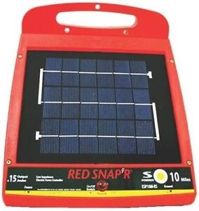 New Red Snap r Esp10m rs Solar 10 Mile Electric Fence Controller Charger 6976161