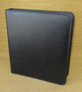 Monarch folio 1 25 Rings Black Bonded Leather Franklin Covey Planner binder