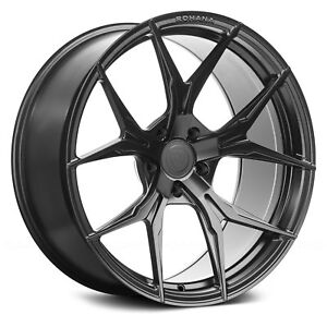 Porsche Cayenne 03 18 Rohana Rfx5 Wheels 20x9 45 5x130 Black Rims Set Of 4