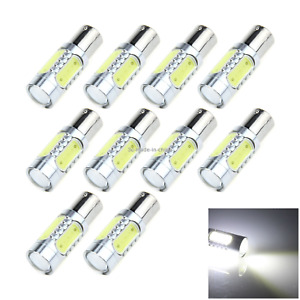 10x White Auto 1156 Marker Lamp Single Light Hight Power 5 4 X Cob 1 Cree Led