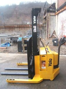 Yale 2800 Cap Walk Behind Forklift Straddle Walkie Stacker 126 Lift Sideshift