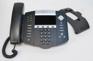 Polycom Soundpoint Ip670 Sip Voip Phone Base W Handset Stand 2201 12670 001