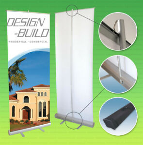 Retractable Banner Stand 36x79 Roll Pop Up Trade Show Sign Display Free Printing