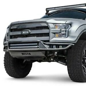 For Ford F 150 15 17 Westin Outlaw Full Width Black Front Pre Runner Bumper