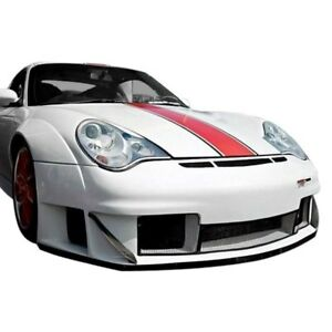 For Porsche 911 02 04 Front Under Spoiler Air Dam Bumper Lip Splitter Gt3 Rsr