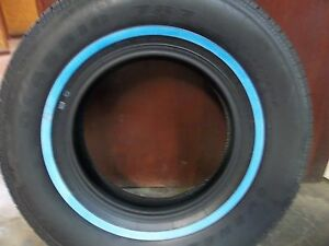 Two 235 75r15 Wide 3 4 Inch White Wall Antique Automobile Tires 105s