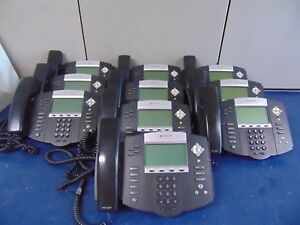 Lot Of 10 Polycom Ip 560 Office Phones Powers On Free Shipping Rh18