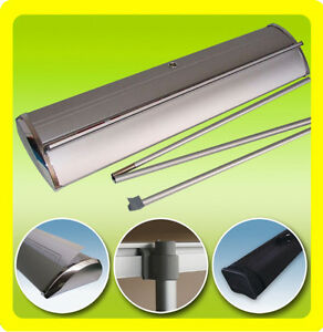 24x79 Deluxe Retractable Roll Up Trade Show Display Banner Stand no Printing
