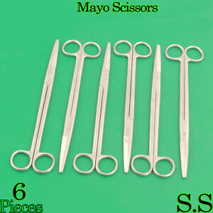 6 Pieces Of Mayo Dissecting Scissors 10 Str Surgical Instruments