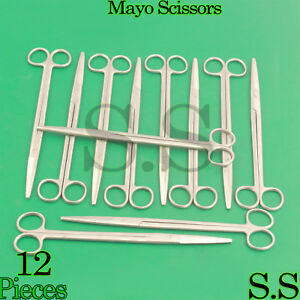 12 Pieces Of Mayo Dissecting Scissors 10 Str Surgical Instruments