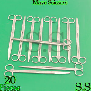 20 Pieces Of Mayo Dissecting Scissors 10 Str Surgical Instruments