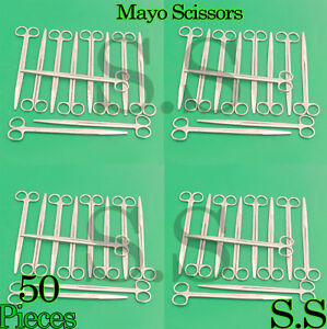 50 Pieces Of Mayo Dissecting Scissors 10 Str Surgical Instruments