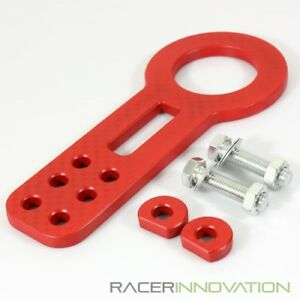 Strong Racing Tow Hook Towing Screw Front Bumper Universal Anodized Jdm Red