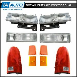 Headlight Parking Marker Light Tail Lamp Kit Set Of 10 For Chevy Truck Suv New
