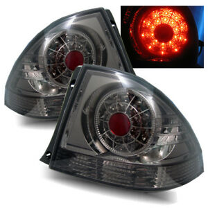 For 01 05 Lexus Is300 Smoke Lh rh Led Tail Lights Rear Brake Lamps Replacement