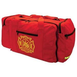 Emi 870 Red Deluxe Gear Fie Compartment Firefighters Bag Reflective Trim